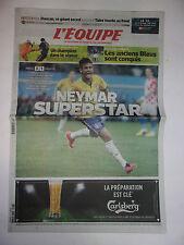 L'EQUIPE 13 JUIN 2014 WORLD CUP BRASIL / BRESIL - CROATIE 3-1 / NEYMAR SUPERSTAR