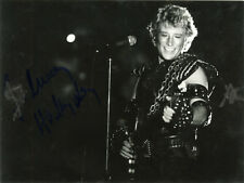 """Johnny HALLYDAY"" Photo originale dédicacée PALAIS DES SPORTS 1982"