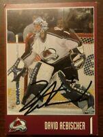 David Aebischer Goalie Autograph Card Colorado Avalanche Signed - COMBINE SHIP