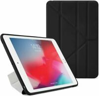 Case for Apple iPad 6th / 5th Gen 2018 2017 9.7 Black Leather Smart Cover Fold