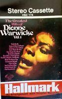 DIONNE WARWICK - THE GREATEST HITS - Vol.1 - Original 1972  Music Cassette tape
