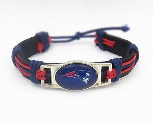 New England Patriots Bracelet Tribal Leather Jewelry Football
