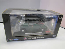 La mini Miniera-Fiat 600 d Multipla taxi (rayas rojas) - 1:18