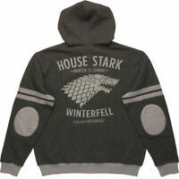 Mens Jacket Game of Thrones Sweatshirt Hoodie Winter Is Coming Size Medium NEW
