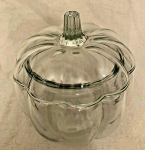 Halloween Glass Pumpkin shaped Decoration Sweet Jar Centrepiece
