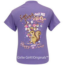 "Girlie Girl Originals ""Happy Twist"" Violet Short Sleeve T-Shirt-2279"