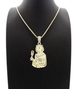"Polished Saint Barbara Pendant 24"" Box, Rope,Cuban Chain Fashion Necklace XSP749"