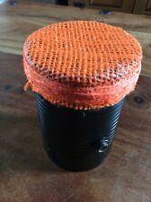 Black & Orange Soup Can Microphone old time vocal mic lo-fi original tin can mic