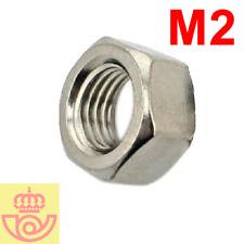 (lote 20pcs) Tuerca acero M2 (Arduino, prototipos)