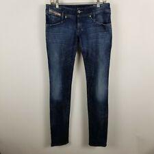 Diesel Matic Slim Tapered Womens Dark Wash Blue Jeans Size 30x34