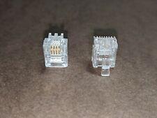 58pcs RJ11 Plug 6P4C Phone/Radar Detector Modular Connector Adapter Crimp