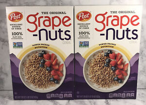 Grape Nuts - 2 Pack - Post Breakfast Cereal Original 29 Oz Box Jan-2022
