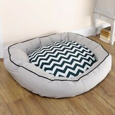 Antibacterial Pet Dog Bed Orthopaedic Donut Dog Paw Soft Cosy Warm