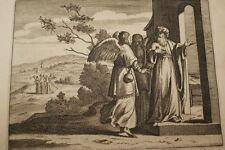 GRAVURE SUR CUIVRE LOT  CRIMES DES SODOMITES-BIBLE 1670 LEMAISTRE DE SACY  (B10)