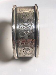 Antique Sterling silver napkin ring Birmingham 1924