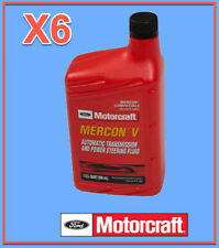 6 Qt. Auto. Trans. & Power Steer Fluid Genuine FORD MOTORCRAFT XT5QMC MERCON V