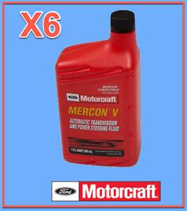 6 Qt. Auto. Trans. & Power Steer Fluid Genuine FORD MOTORCRAFT XT5QMC MERCON V