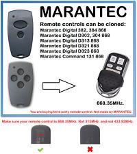 MARANTEC Digital D302, D304 868 Universal Remote Control Duplicator 868.35MHz.