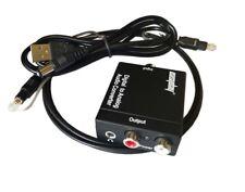 192kHz Adattatore convertitore audio da digitale a analogico con cavo ottico