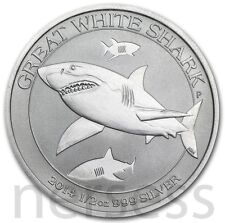 Great White Shark 2014 Australia 50 cents 1/2 Oz Pure 99.99% Silver Coin BU