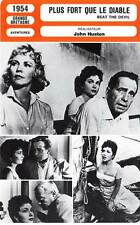 Fiche cinema: stronger than the devil-Bogart, jones, huston beat the devil 1954