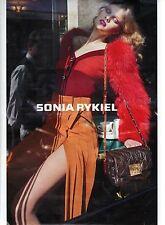 PUBLICITE ADVERTISING  2011  SONIA RYKIEL  pret à porter  accessoires et sac