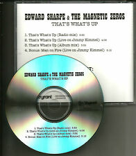 EDWARD SHARPE That's What's up / man on Fire RARE LIVE TRX & MIX PROMO CD single
