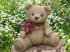 Steinfigur Teddybär Gartenfigur Gartendeko Dekofigur Geschenkidee