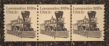 USA1982 #1897a  2c Locomotive 1870s - Plate Number Coil Strip of 3  (#3)  PNC