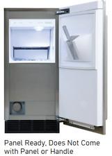 "Sub-Zero Uc15Ipo 15"" Panel Ready Built-in Outdoor Ice Maker 25 lbs. Storage"