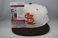 Pete Gray Autograph Signed St. Louis Browns Roman Hat Inscribed JSA