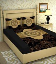 King Size Bed Sheet Set Ultra Glace Cotton Luxury 3 Pcs Bedding Logo Bedspread