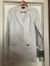 Grey's Anatomy Women's Lab Coat Size Small Jacket White 3 Buttons