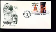 1996 FDC - Scott# 3081 COMBO - Breast Cancer Awareness - Art Craft Cachet    UA