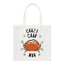 Crazy Crab hombre estrellas Small Tote Bag-hombro animales graciosos