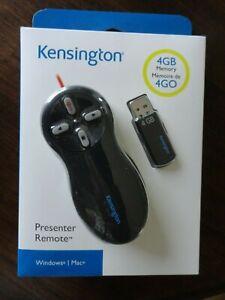 Kensington Wireless Control Presenter Red Laser Pointer Remote NIB New