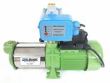 CHM GmbH® Gartenpumpe 1,1 Kw Edelstahl mit einstb. Druckregler/Trockenlaufschutz