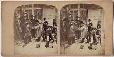 Original 1870er J. Stereofoto Genre GRUNDSCHULE Ecole d'enfants