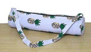 Indian Handmade Cotton Ethnic Yoga Mat Bag Throw Adjustable Shoulder Strap New