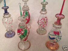 "LOT of 15 Mouth blown EGYPTIAN PERFUME BOTTLES Pyrex Glass 7"""