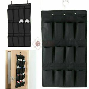 12 Pockets Over The Door Shoe Hanger Rack Kitchen Home Storage Hanging UK
