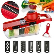 6 Blades Mandoline Slicer Vegetable Cutter Potato Onion Carrot Grater Chopper UK