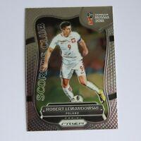 Robert Lewandowski Panini Prizm 2018 World Cup Scorers Club SC-15 Poland Card
