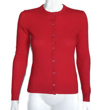 SUTTON STUDIO CASHMERE Red Button Cardigan Women's Sweater XS (Fixer-up) - 4843
