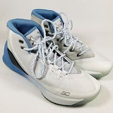 Under Armour Curry 3 Grade School University Blue/White Basketball Shoes Sz 7Y