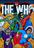 The WHO 1977 PORTAL poster ULTRA RARE SUPER HEROES 20x28 NEAR MINT