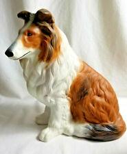 Collie Shetland Sheepdog Puppy Dog Large Figurine Statue Brown White