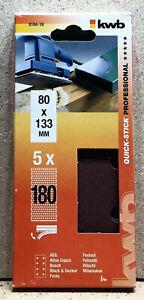 kwb 5 Klett - Schleifstreifen Schwingschleifpapier 80x133 mm   K 180  818418