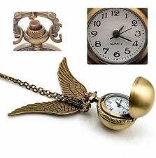 Pendant Necklace Steampunk Quidditch Wings Harry Potter Snitch Pocket Watch APP