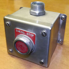 Hoffman Stainless Steel Weatherproof Enclosure with Emergency Stop Button